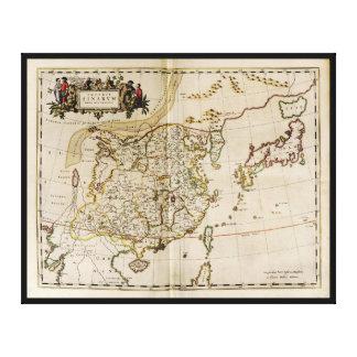 Carte de la Chine, du Japon et de la Corée circa Toile