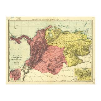 Carte de la Colombie et du Venezuela (1898) Toiles
