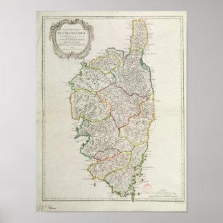 Carte de la Corse Posters
