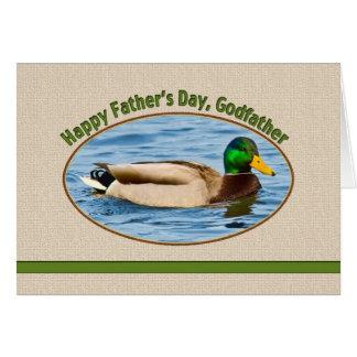Carte de la fête des pères du parrain avec le cana