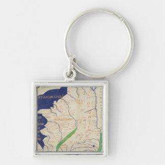 Carte de la France, de 'Geographia Porte-clé Carré Argenté