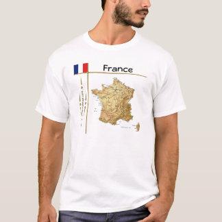 Carte de la France + Drapeau + T-shirt de titre