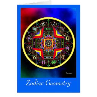 Carte de la géométrie de zodiaque