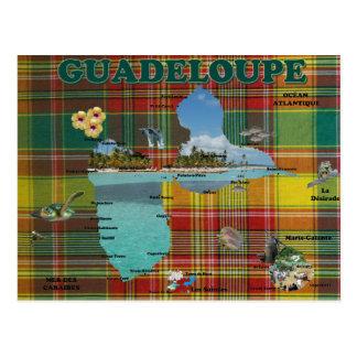 Carte de la Guadeloupe en madras