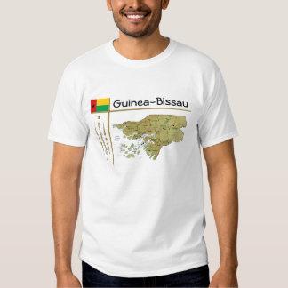 Carte de la Guinée-Bissau + Drapeau + T-shirt de