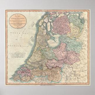 Carte de la Hollande 1799 - par John Cary Posters