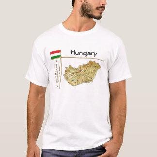 Carte de la Hongrie + Drapeau + T-shirt de titre