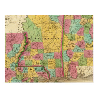 Carte de la Louisiane Mississippi et de l'Alabama