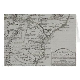 Carte de la Mozambique, Afrique