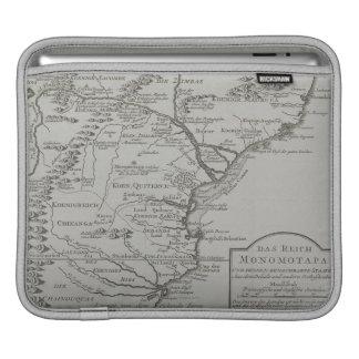 Carte de la Mozambique, Afrique Housses iPad