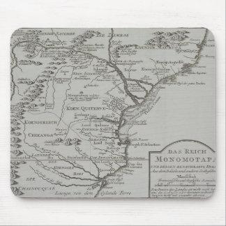 Carte de la Mozambique, Afrique Tapis De Souris