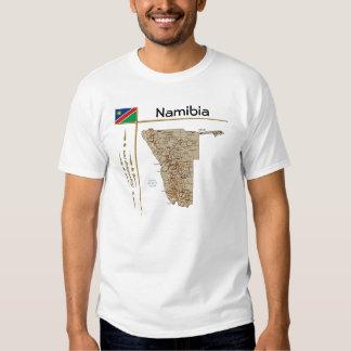 Carte de la Namibie + Drapeau + T-shirt de titre
