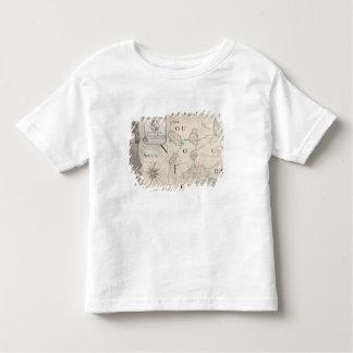 Carte de la Nouvelle-France 1699 T-shirt Pour Les Tous Petits