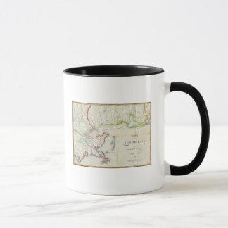 Carte de la Nouvelle-Orléans et de pays limitrophe Tasse