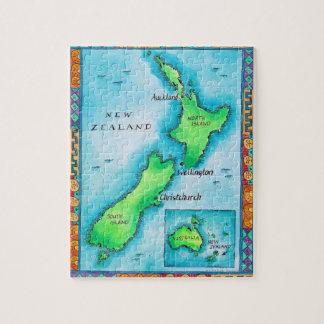 Carte de la Nouvelle Zélande 2 Puzzle