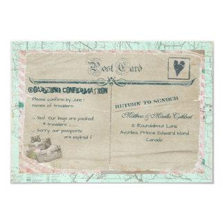 Carte de la partie RSVP de voyage de valises