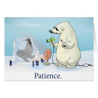 """Carte de la """"patience"""" (blanc à l'intérieur)"""