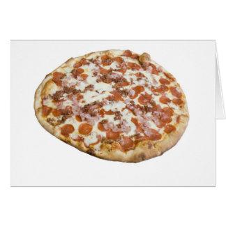 Carte de la pizza des amants de viande