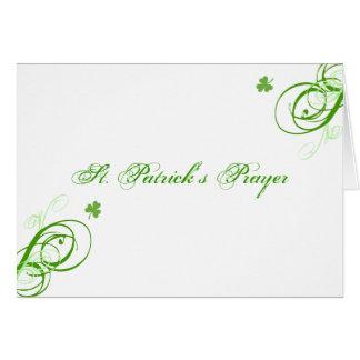 Carte de la prière de St Patrick