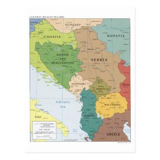 Carte de la région balkanique centrale