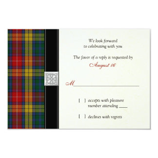 Carte de la réponse RSVP de mariage de tartan de Carton D'invitation 8,89 Cm X 12,70 Cm