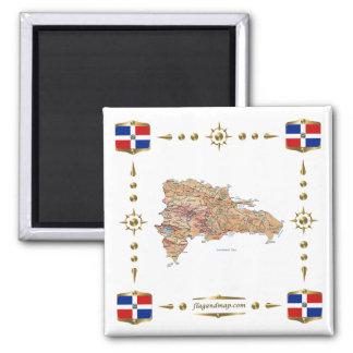 Carte de la République Dominicaine  + Aimant de