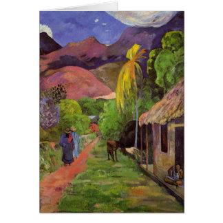 """Carte de la """"rue De Tahiti"""" - Paul Gauguin"""