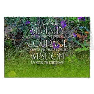 Carte de la sagesse 2 de courage de sérénité