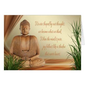 Carte de la sagesse de Bouddha