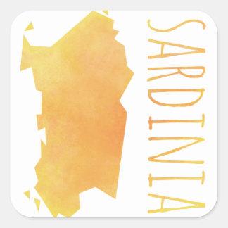 Carte de la Sardaigne Sticker Carré