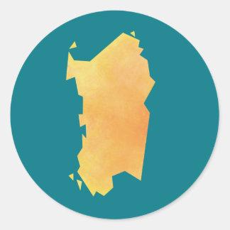 Carte de la Sardaigne Sticker Rond