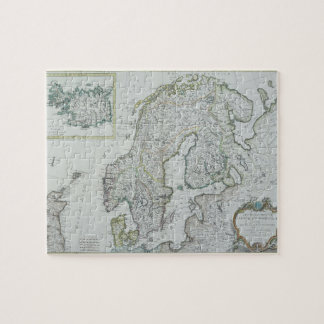 Carte de la Scandinavie Puzzle