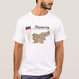 Carte de la Slovénie + Drapeau + T-shirt de titre