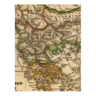 Carte de la Turquie et de la Grèce