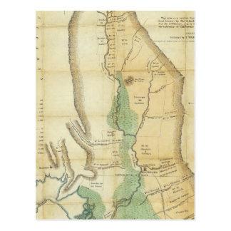Carte de la vallée de Sacramento