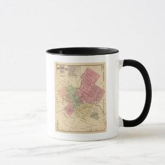 Carte de la ville 1877 de Petaluma Mug