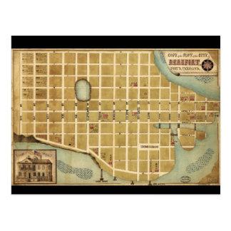 Carte de la ville de Beaufort la Caroline du Sud