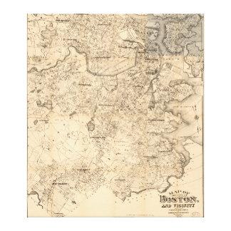 Carte de la ville de Boston et de Vicinity (1907) Toile