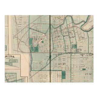 Carte de la ville de Fort Wayne avec Cedarville