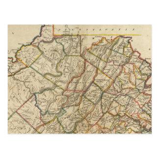 Carte de la Virginie