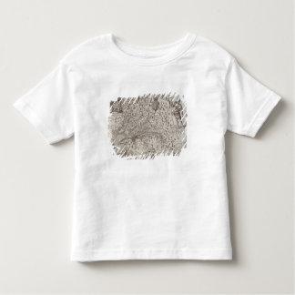 Carte de la Virginie, découverte et décrite par T-shirts