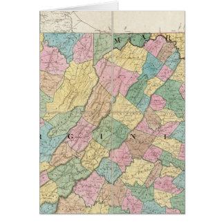 Carte de la Virginie, du Maryland et du Delaware