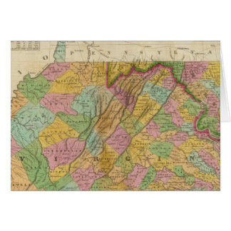 Carte de la Virginie et du Maryland