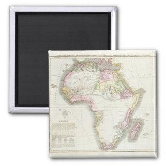 Carte de l'Afrique, 1821 Magnet Carré