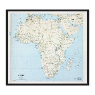 Carte de l'Afrique (1977) Toile