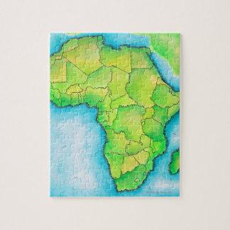 Carte de l'Afrique 3 Puzzle