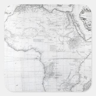 Carte de l'Afrique Autocollants Carrés