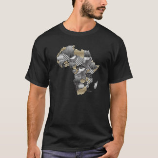 Carte de l'Afrique Blinging il T-shirt
