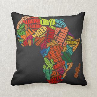 Carte de l'Afrique Coussin