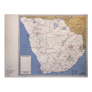 Carte de l'Afrique du Sud (décembre 1961) Carte Postale